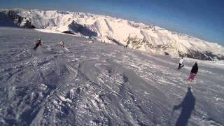 Hintertux: Skifahren von der Gefrorenen Wand zum Tuxerferner Haus, Hintertuxer Gletscher