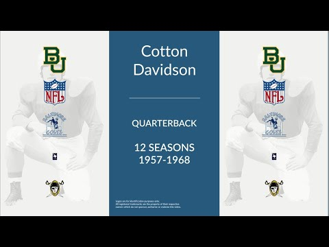Cotton Davidson: Football Quarterback