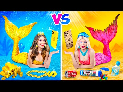 Popular MERMAID vs Normal MERMAID Challenge || How to Become Cool by RATATA