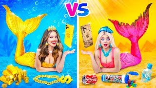 Popular MERMAID vs Normal MERMAID Challenge    How to Become Cool by RATATA
