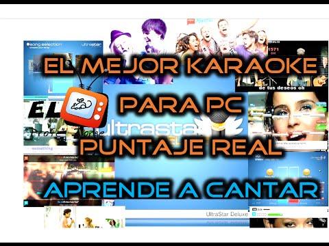 El Mejor KARAOKE para PC 2016 // Puntaje Real // Reconocimiento de Voz ♥ UltraStar Deluxe ♥