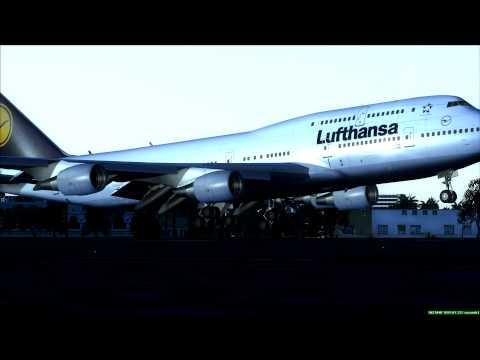 """Lufthansa Boeing 747-400 """"Mülheim""""  lands at Khartoum Sudan"""