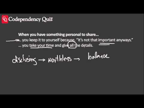 Codependency Quiz—Sharing Personal Things