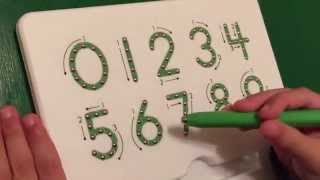 Learning Writing Numbers 0-9 on a Magnatab