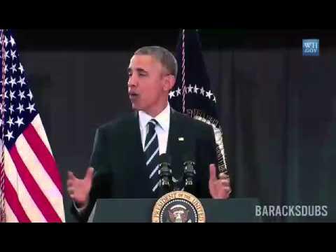 Barack Obama singing Panda