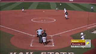 AUBURN SOFTBALL VS MISSISSIPPI STATE GAME 2 HIGHLIGHTS