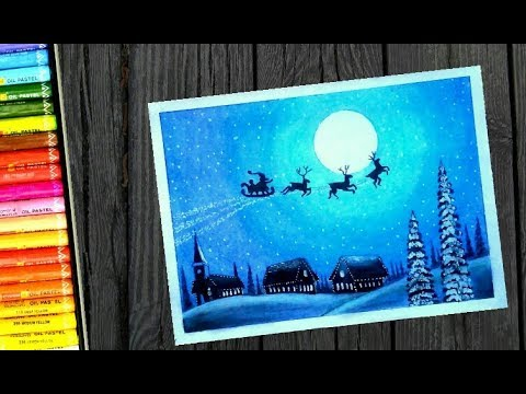 Christmas Day Special Step By Step Oil Pastel Dawing For Kids And