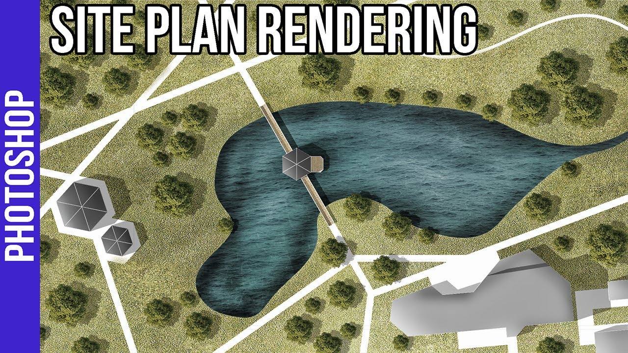 Landscape Site Plan Rendering in Photoshop
