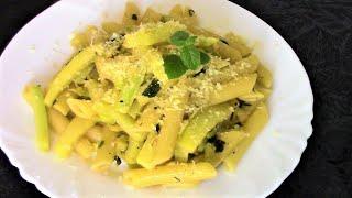 Освежающие макароны с кабачками, лимоном и мятой. Вкусное блюдо за 15 минут.