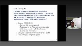 Yale SOM MBA Essay Analysis - 2012-2013 Season - Write Like an Expert 2012