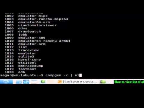 How to view list of all commands in Unix