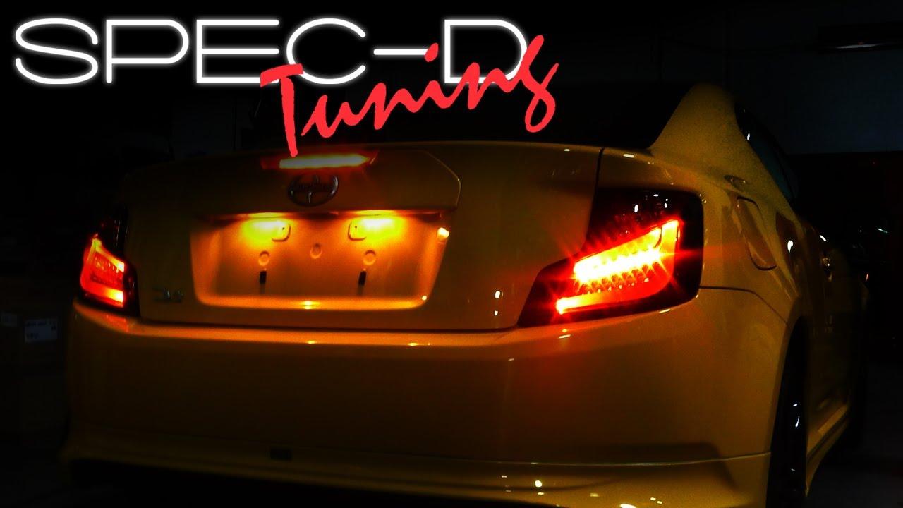 SPECDTUNING INSTALLATION VIDEO 2011  2013 SCION TC LED TAILLIGHT
