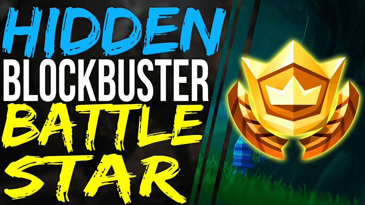 Fortnite Secret Hidden Battle Star Location Week 2 Blockbuster