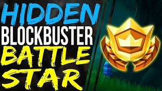 Fortnite SECRET HIDDEN BATTLE STAR LOCATION Week 2 - Blockbuster Challenges Season 4