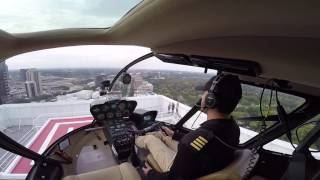 Flying R66 To A New Helipad in Atlanta (Colony Square)