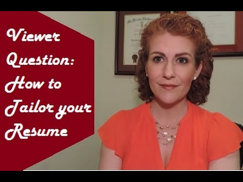 How to Tailor your Resume - YouTube