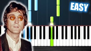 Download John Lennon - Imagine - EASY Piano Tutorial by PlutaX Mp3 and Videos
