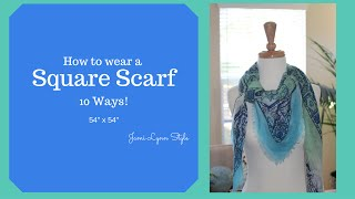 How to Wear a Square Scarf 10 Ways