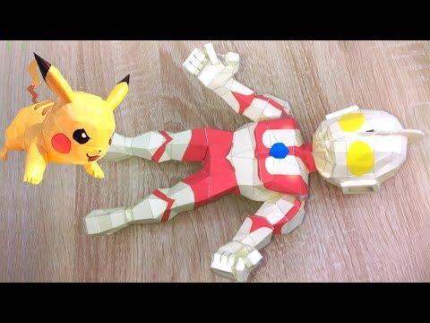 How to make Ultraman 3D Zoffy Papercraft | Hướng dẫn làm mô hình giấy 3D Siêu nhân điện quang