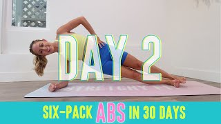 GET SIX-PACK ABS IN 30 DAYS CHALLENGE! Day 2: Core Crusher! #StretchyFitAbs