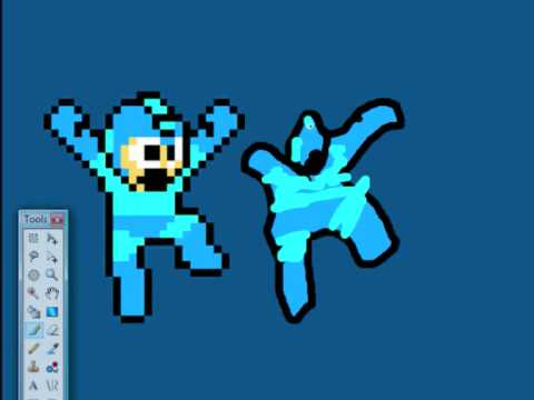 how to draw megaman like a pro with paint .net