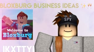 30 Bloxburg Business Ideas|| ikxttyi || Roblox