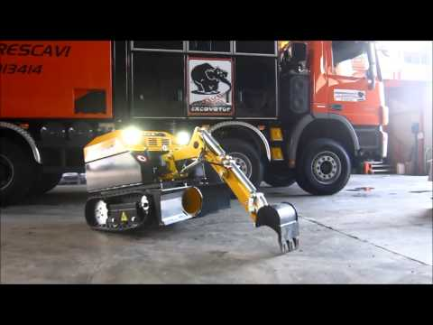 Remote Controlled Miniexcavator: GATTO RC - www.suction-excavator.com