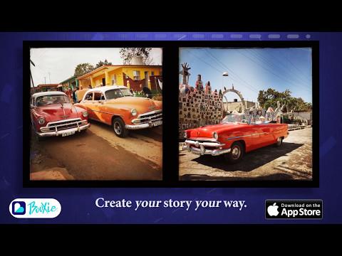 Try a travel theme with trip photos like this Havana Cars Booxie.