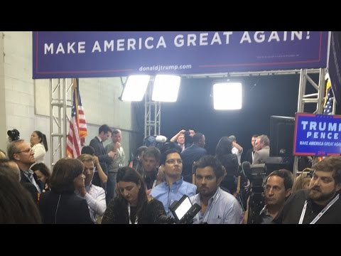 Live in CROWDED spin room in Trump area  w/ Michael Shure