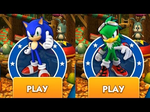 Sonic Dash Gameplay - SONIC VS JET