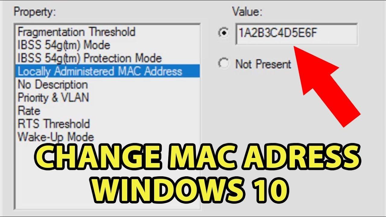 change wireless mac address windows 10