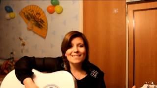 """Девушка с белой гитарой """"Игривая кошка"""" (Авторская)"""