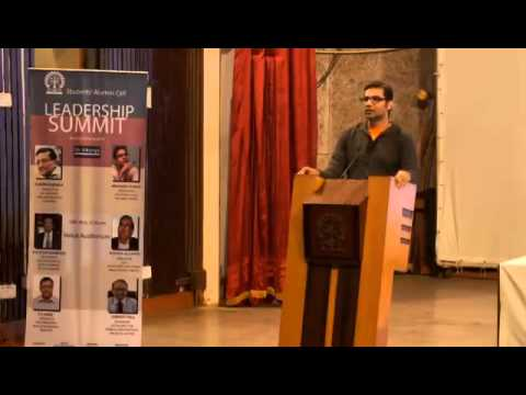 Mr. Arunabh Kumar at the Leadership Summit