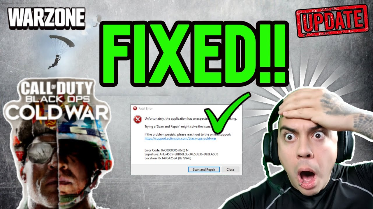 Download How To FIX COLD WAR CRASH DEV DISCONNECT SCAN ERRORS CALL OF DUTY WARZONE SEASON 1!