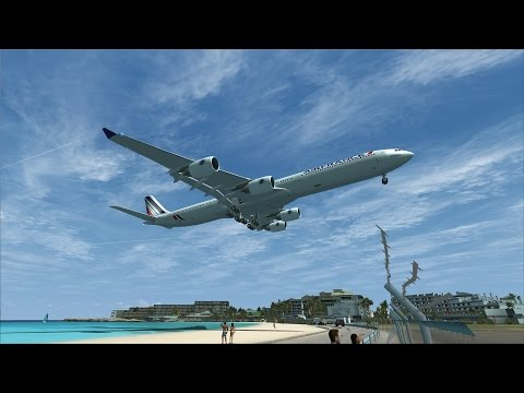 FSX A340-600 Miami to St Maarten [AWESOME REALISM+GRAPHICS]