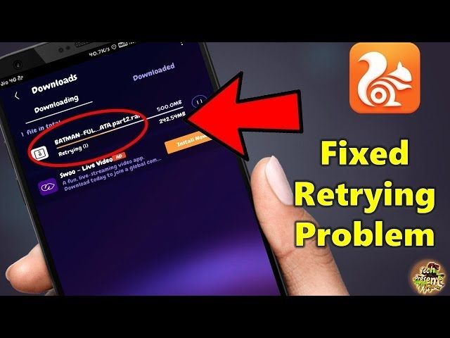 UC Browser Retrying Problem Fix This Solve 2019