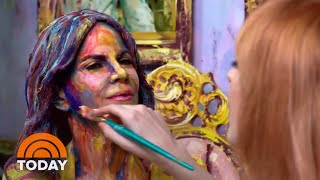 Meet The Artist Turning Humans Into 2D Art | TODAY Video