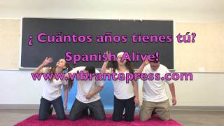 """¿Cuantos años tienes tú?"" Spanish song for learning how to say your age in Spanish."