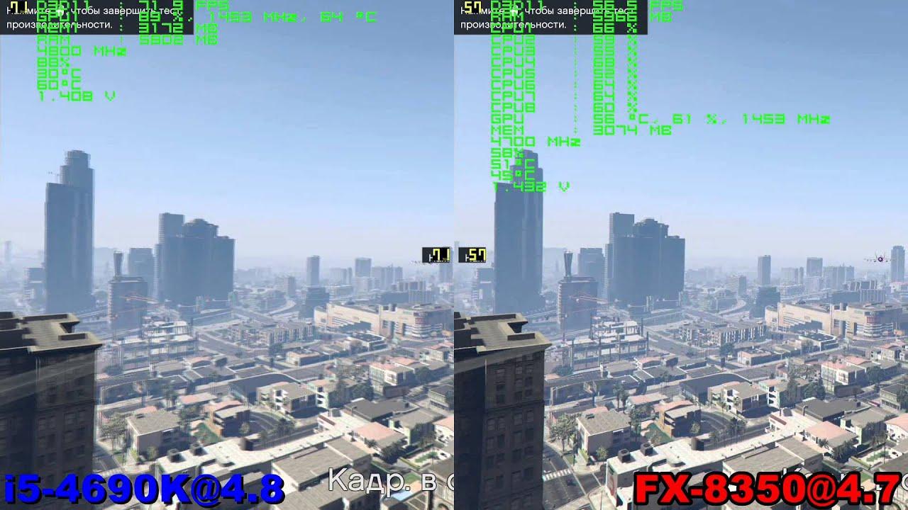 i5 4690K@4.8 vs FX 8350@4.7 in GTA 5 (GTX 980)