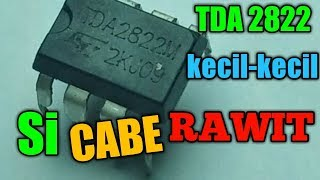#TDA2822 #kecil_kecil_cabe_rawit power #amplifier_mini stereo dengan ic tda 2822