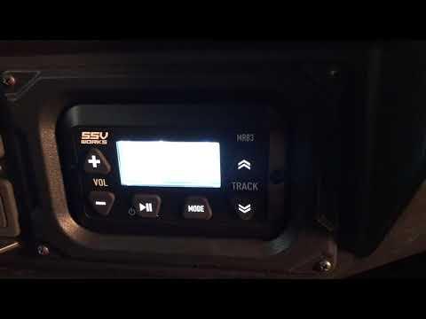 Yamaha Wolverine X4 SSV stereo installed