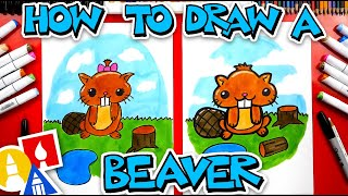 How To Draw Funny Cartoon Beaver
