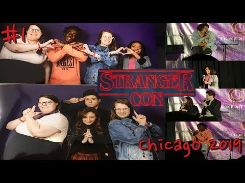 Meeting Caleb,Priah,Chester & Chelsea -Stranger Con Chicago Day 1 Saturday October 5, 2019