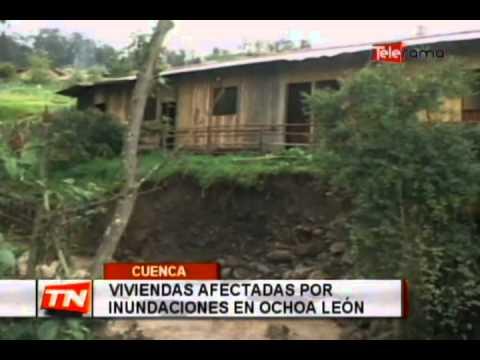 Viviendas afectadas por inundaciones en Ochoa León