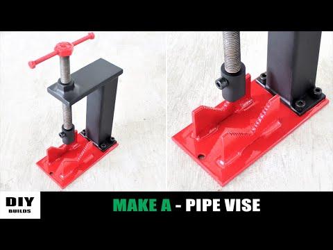Make A Metal Pipe Vise   DIY Homemade Pipe Vise