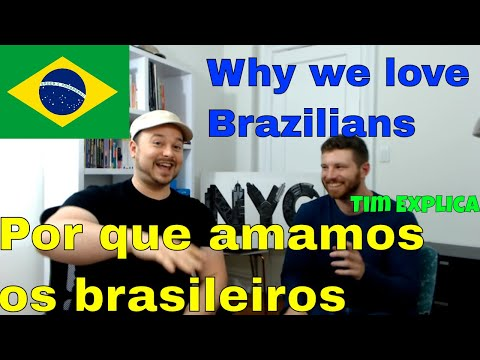"Why we love Brazilians 🇧🇷 (with Tim from ""Tim Explica"") - video in Portuguese"