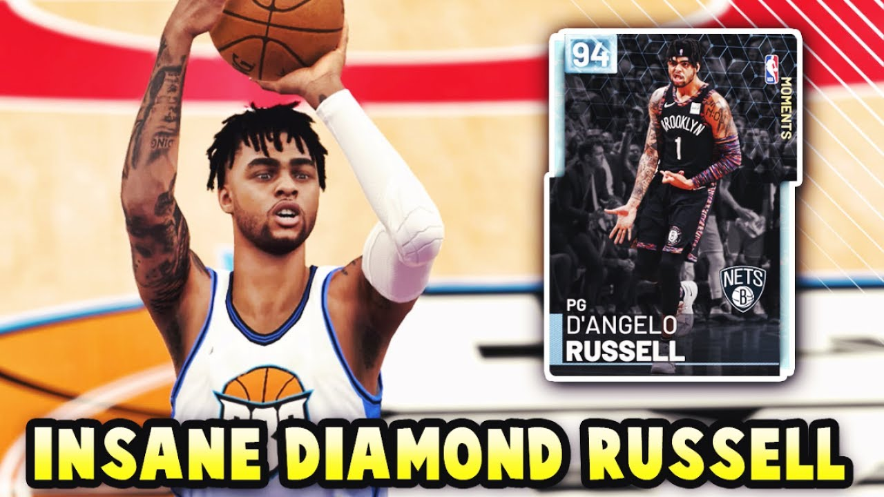 NBA 2K19 DIAMOND MOMENTS D ANGELO RUSSELL IS INSANE!!  95 3 POINT ... 359a68987