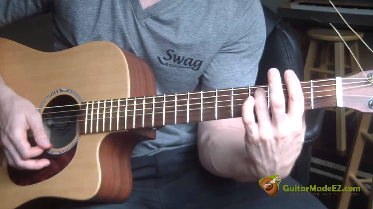 The Beatles Ive Just Seen A Face Guitar Lesson Youtube