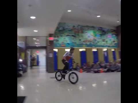 BMX Tricks from West Nyack, NJ - Strawtown Elementary School - BMX Show School Assembly