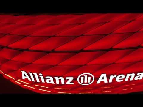 Allianz Arena Dronned in 4K,.Bayern Munchen Drohne 4K.Allianz Arena Drone.